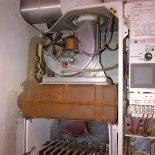 Boiler cimbustion chamber burnt out dud to lack of servicing in Frinsbury